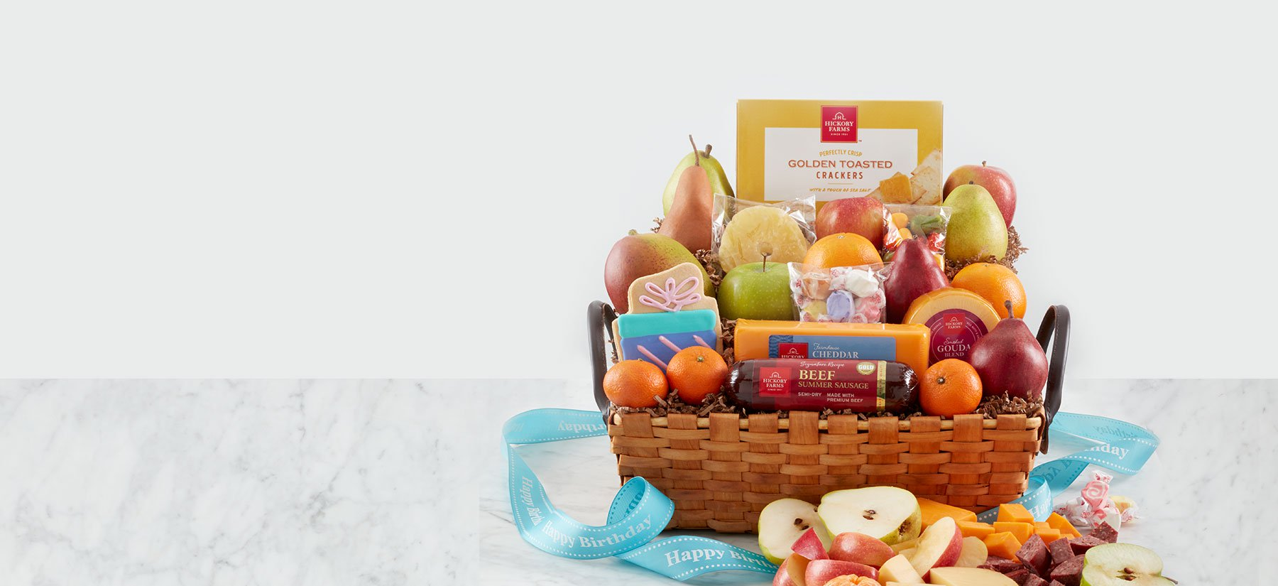 A special birthday fruit basket